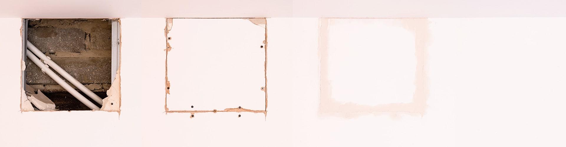 Remplacer Une Porte Par Du Placo reboucher un trou d'un mur en placo : enduit et techniques
